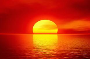 Red-Sky-Sun-Sea