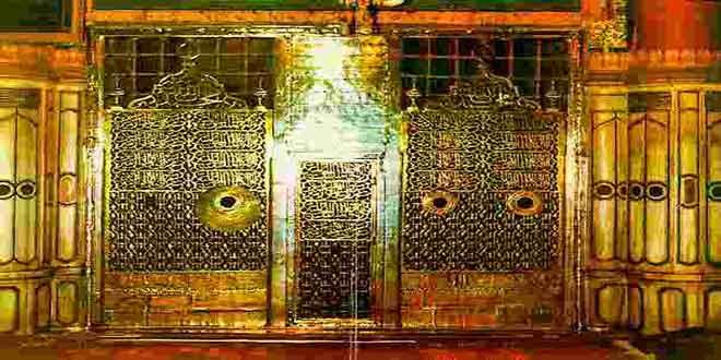 Golden-Gate,-Prophet-Muhammad's-Tomb-From-Inside