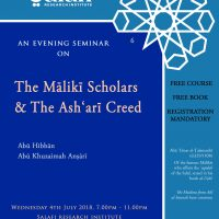 Seminar - The Maliki Scholars and the Ashari Creed - COVER